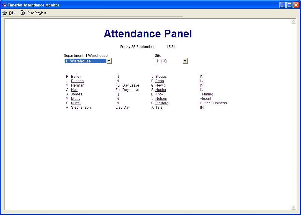Time And Attendance Systems Clocking In Systems